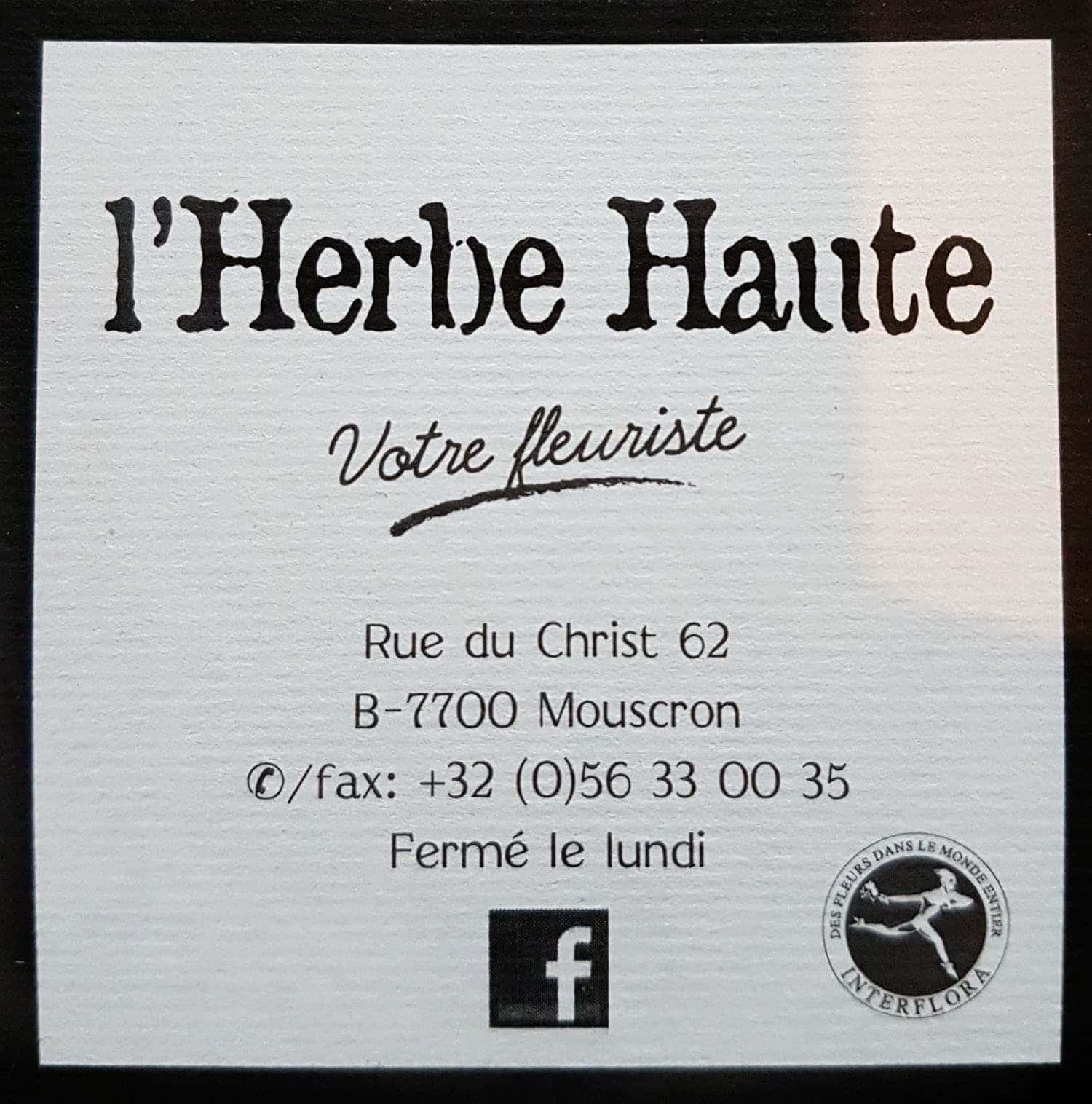 Le Studio Fhano.eu vous recommande L'Herbe Haute, votre fleuriste sur Mouscron et environ.