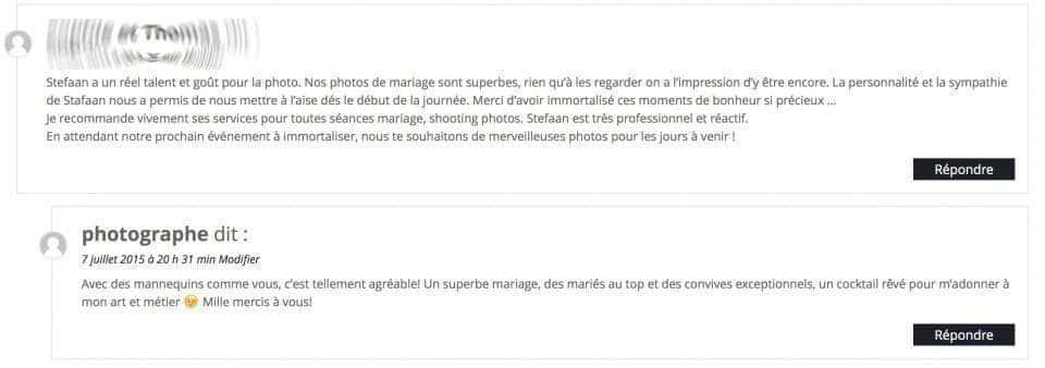 avis des clients studio Fhano.eu - http://7700.be