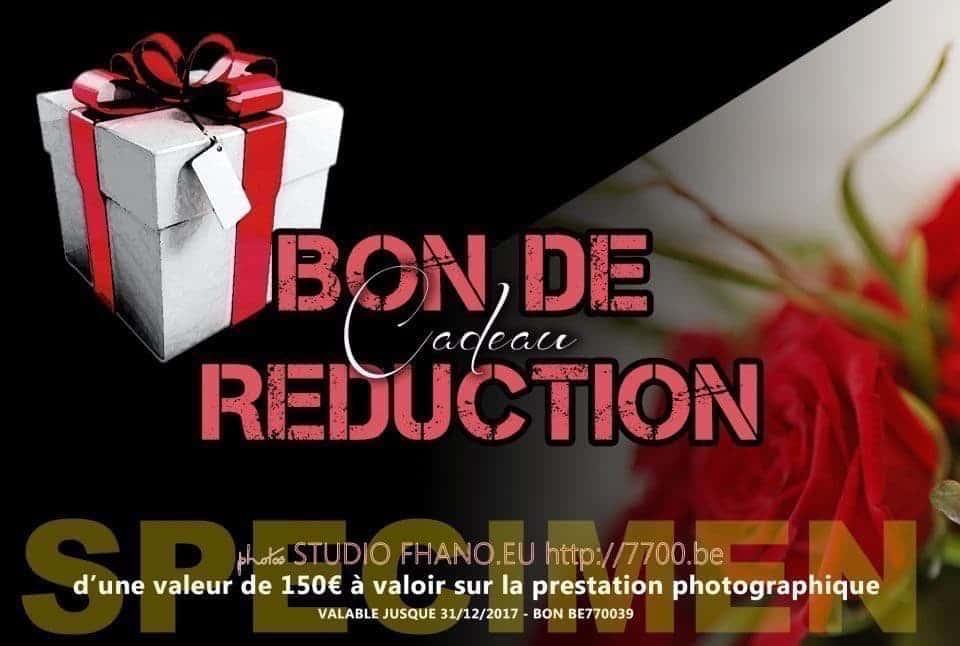Bon cadeau de réduction d'une valeur de 150€ au studio 7700BE (Fhano.eu) - http://7700.be